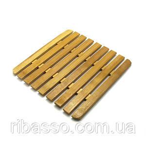 Подставка под горячее бамбук 18x18 см. 27934