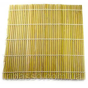 Циновка бамбуковая для роллов 23х24 см 30771