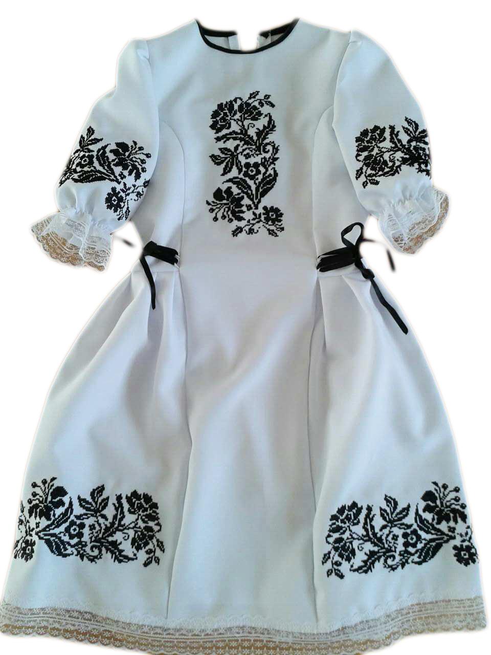 """Дитяча вишиванка для дівчинки """"Іліна"""" (Детская вышиванка для девочки """"Илина"""") DU-00016"""