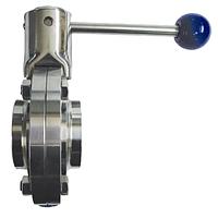 Заслонка поворотная из нж/стали GENEBRE тип 2943, Dn-40, L-126