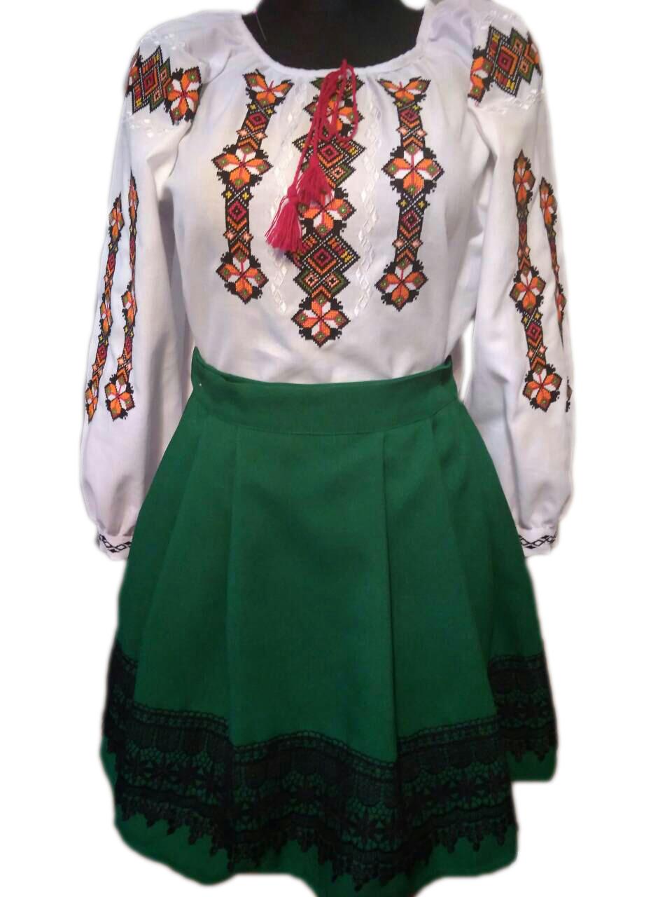 """Вишитий костюм для дівчинки """"Ірен"""" (Вышитой костюм для девочки """"Ирен"""") DU-0018"""