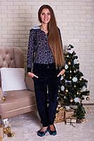 Костюм женский велюровый со штанами