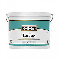 Сolors Lotus А 2,7 л латексная краска, устойчивая к стиранию и смыванию