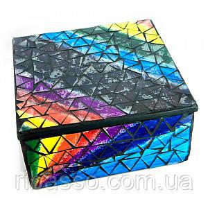 Шкатулка для украшений мозаичная 17х17х8 см 24279