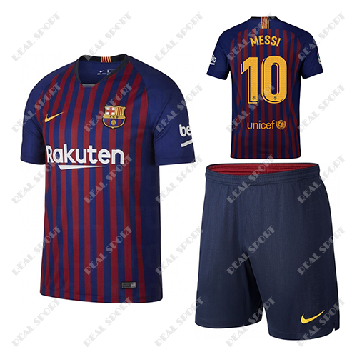 Детская футбольная форма ФК Барселона 2018-2019, Месси №10. Основная форма 89b2563d9db