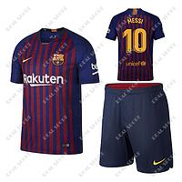 Детская футбольная форма ФК Барселона 2018-2019, Месси №10. Основная
