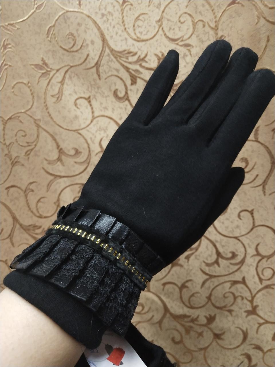 Трикотаж женские перчатки /Перчатки женские Эластичный(только ОПТ)