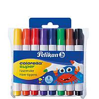 Фломастеры Pelikan Colorella Super 8 цветов утолщенные стержень 3мм (966648)