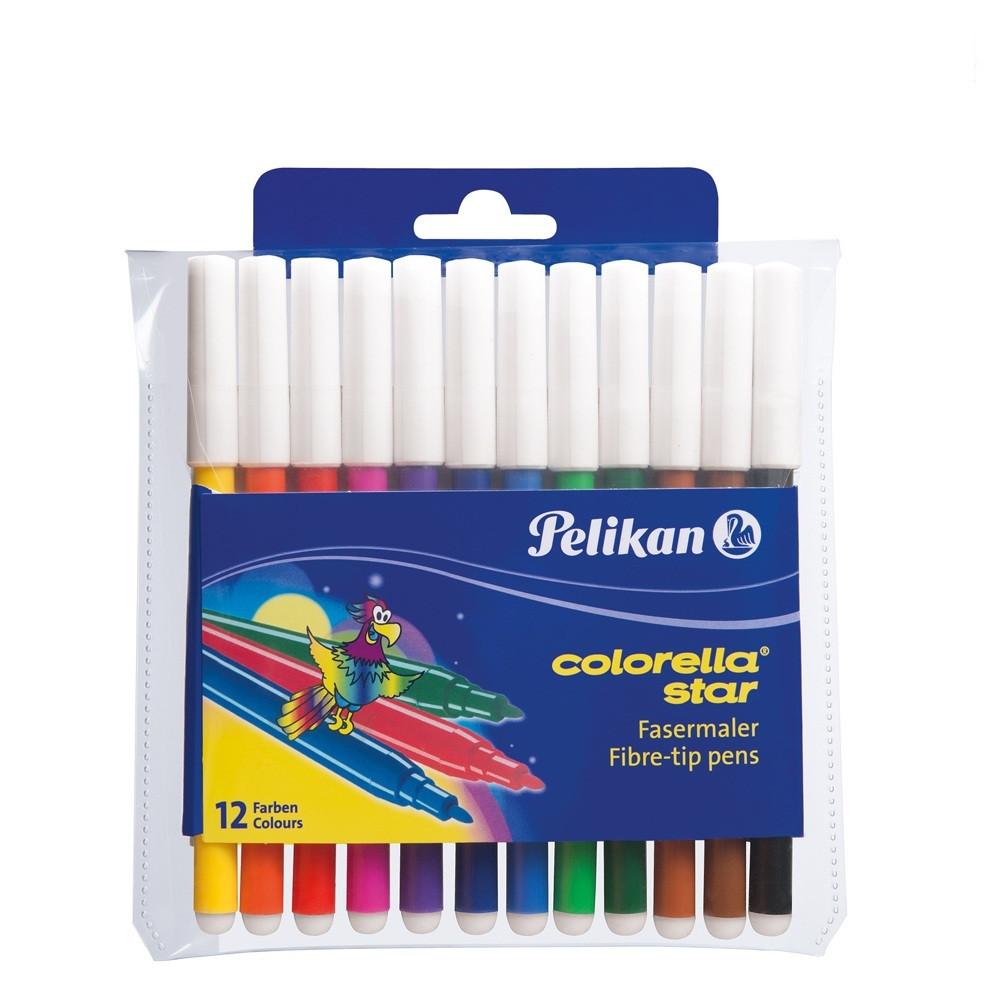 Фломастеры Pelikan Colorella Star Fine 12 цветов стержень 0.8мм (908806)