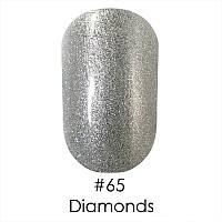 Гель-лак Naomi (Наоми) 6 мл №65 серебряный блестящий металлик