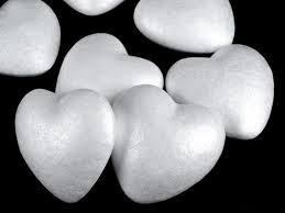 Пенопластовые сердца