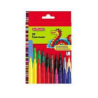Фломастеры Herlitz 20 цветов стержень 2мм (8649238)