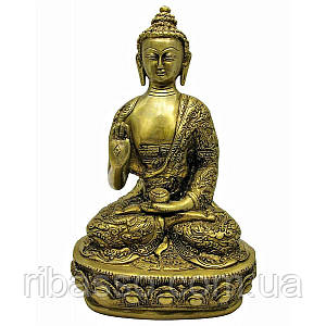 Будда в позе лотоса бронза 26,5х15х9,5 см 19270