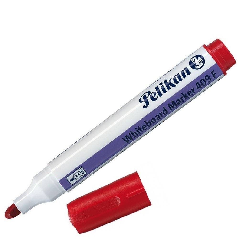 Маркер для белой доски Pelikan 409F 2мм красный (947796)