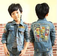 Детская  джинсовая курточка на мальчика Д-148-О