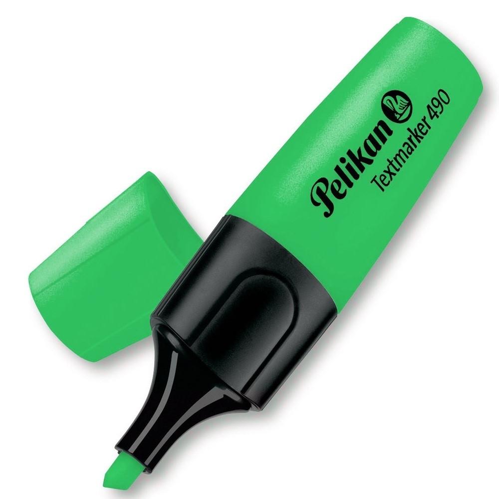 Маркер текстовый Pelikan 490 1-5мм зеленый (940387)