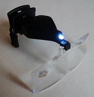 Линзы очки увеличительные на прищепке с подсветкой