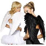 Крылья Ангела перьевые черные гигант 70 см., фото 4