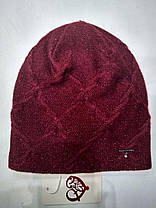 Шапка женская Флай бордовая, фото 2