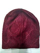 Шапка женская Флай бордовая, фото 3