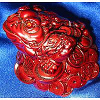 Жаба на монетах каменная крошка коричневая 10х10,5 см 30039