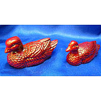 Утки-мандаринки каменная крошка коричневые 9х4х4 см 2341