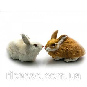 Кролик натуральне хутро 12х13х9 см 23280