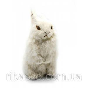 Кролик натуральне хутро 22х15х10 см 23748