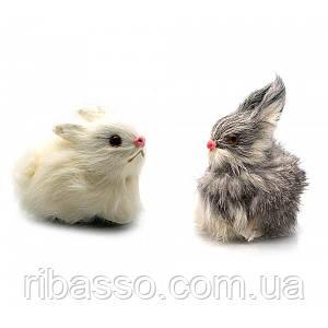 Кролик натуральне хутро 9,5х6х5 см 23276