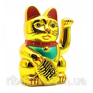 Кошка Манэки-нэко машущая лапой 12,5х7,5х6,5 см батарейки в комплект не входят 23976