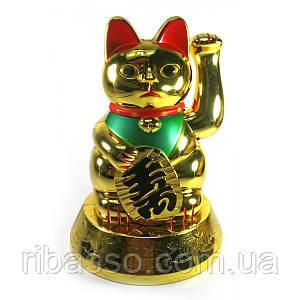 Кошка Манэки-нэко машущая лапой батарейки в комплект не входят 16,5х11,5х11,5 см 30743