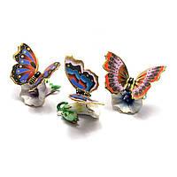 Бабочка на цветке фарфор 8,5х5х6см 26436