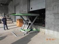 Одноножничный подъёмный стол типа КС