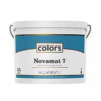 Сolors Novamat 7 З 2,7 л латексна водоразбавимая миюча фарба для стін