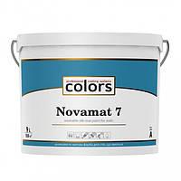 Сolors Novamat 7 З 9 л латексна водоразбавимая миюча фарба для стін