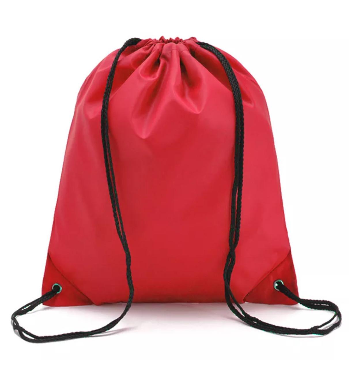 Сумка-мешок/рюкзак для спортивной формы и сменной обуви для школьников «4 Сезона» (красный)