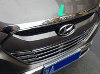 Нижняя кромка капота Hyundai IX-35 2010-2015 (ABS-пластик) Libao