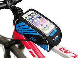 """Сумка B-Soul на раму под смартфон 6.0"""" синяя"""