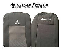 Авточехлы на FORD Mondeo 2000-2007рр. (седан) (airbag, сп. 1/3, задн. підлок., 5 підгол.) Favorite