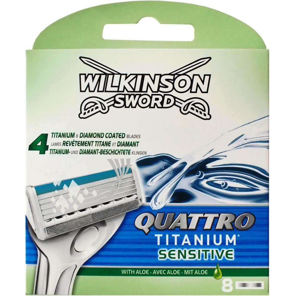 Сменные кассеты Wilkinson Sword Quattro Titanium Sensitive 8 шт W0031