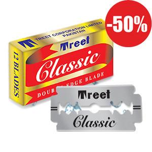Классические двухсторонние лезвия «TreetClassic®» 10шт T0001