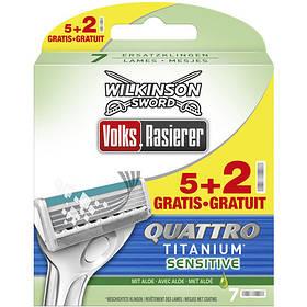 Сменные кассеты Wilkinson Quattro Titanium Sensitive, 7 шт W0035