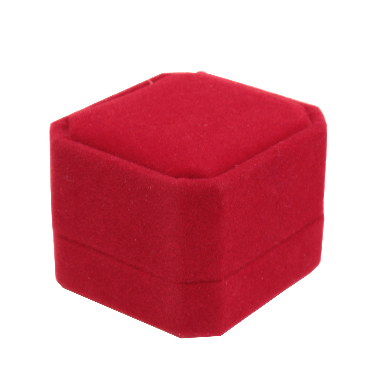 Футляр восьмиугольный красный