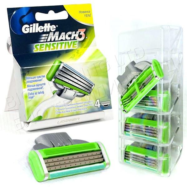 Сменные кассеты Gillette Mach3 Sensitive Original (4 шт) G0029
