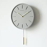 Настенные часы с маятником GeekCook 25.5 см Серые (RC130006)