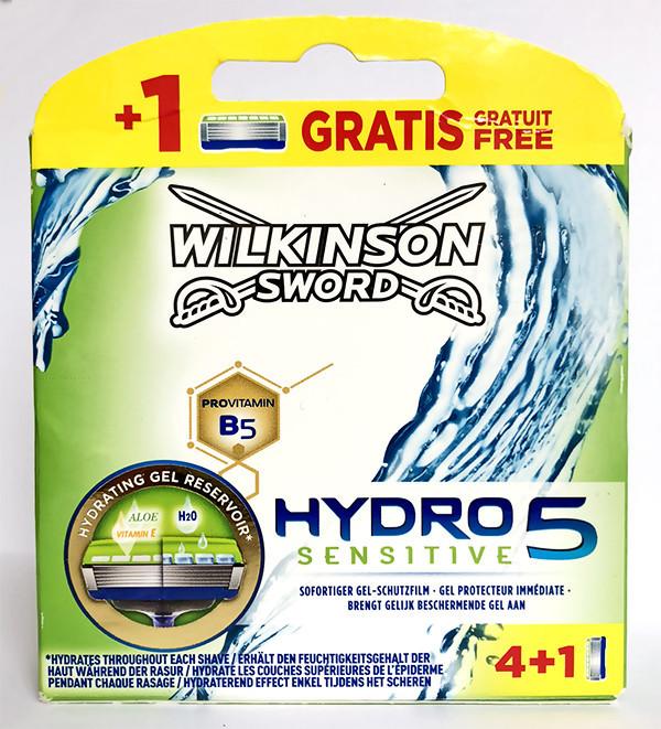 Картриджи для бритья Wilkinson Sword Hydro 5 Sensitive (4+1шт.) W0105