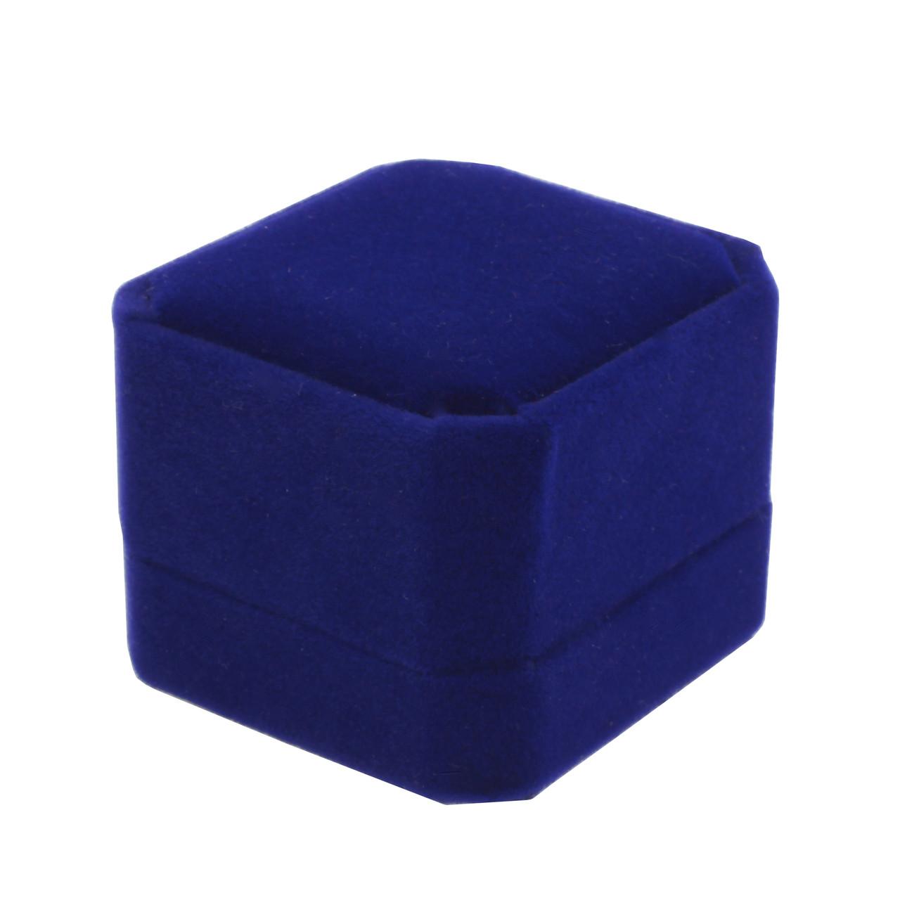 """Футляр под кольцо """"Классика восьмиугольная"""" синий"""