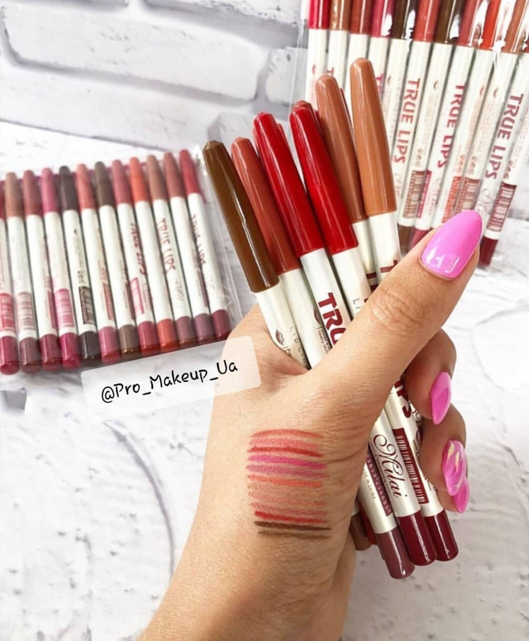 Набор карандашей для контура губ True Lips Milai (набор 12 шт.)