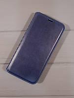 Чехол-книжка leather folio - для Samsung J600 2018 -синий, фото 1