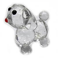 Собака хрустальная 6х4х4 см 18166